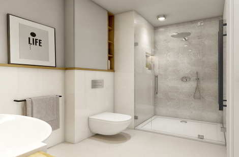 حمام عصري بطابع كلاسيكي